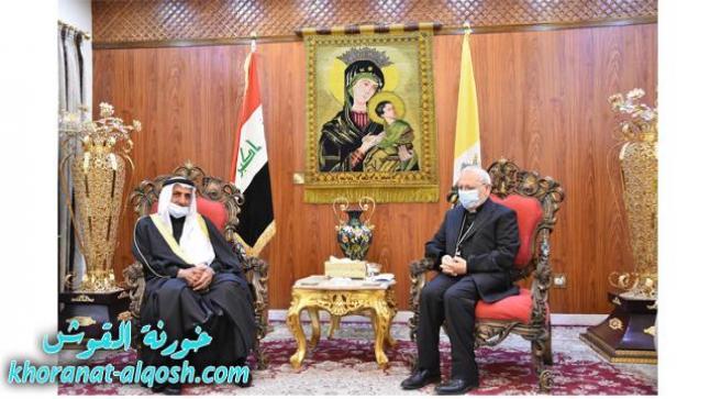 الكاردينال ساكو يستقبل وفداً من المجمع الفقهي لكبار علماء السنّة في العراق