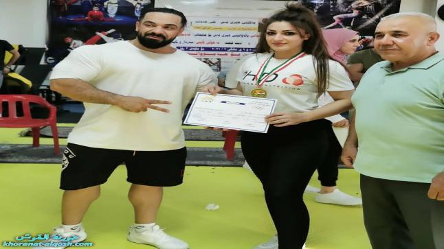 للمرة الثالثة، الشابة الالقوشية دينا فؤاد تحصل على المركز الاول في القوة البدنية