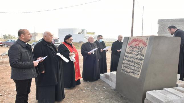 كنيسة جديدة في بلدة بغديدا توثق عودة اهالي البلدة بعد فترة النزوح