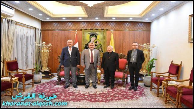 البطريرك ساكو يستقبل مستشار رئيس مجلس النوّاب ومدير قناة العراقية السريانية