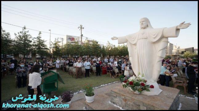 احتفالية غبطة البطريرك ساكو في عيد القلب الاقدس في دير الراهبات بعنكاوا