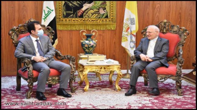 الكاردينال ساكو يستقبل وزير أوقاف إقليم كردستان-العراق