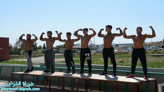 بطولة القوة البدنية الثالثة لقاعة بناء الاجسام في نادي القوش الرياضي