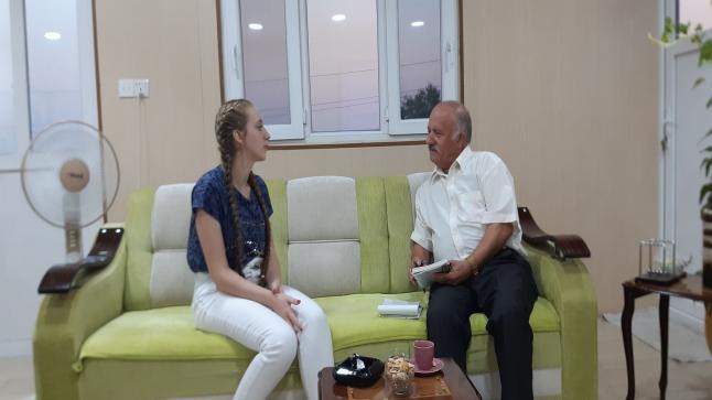 لقاء مع أحدى الطالبات المتفوقات من بلدة القوش