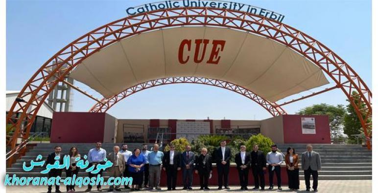 البطريرك ساكو يزور الجامعة الكاثوليكية في أربيل
