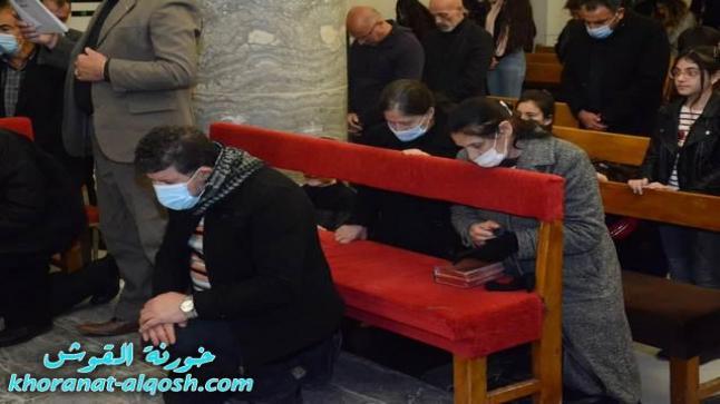 كنائس القوش تقيم القداديس في اليوم الاول من صوم الباعوثة
