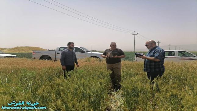 فريق البرنامج الوطني يجري زيارة ميدانية الى عدد من حقول القوش والشيخان