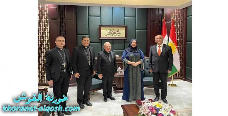 البطريرك ساكو يزور رئاسة برلمان اقليم كوردستان
