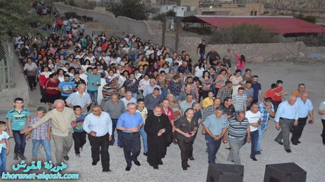 بالصور … كنيسة القوش تحتفل بعيد التجلي و زوياح للذكرى الثالثة للتهجير