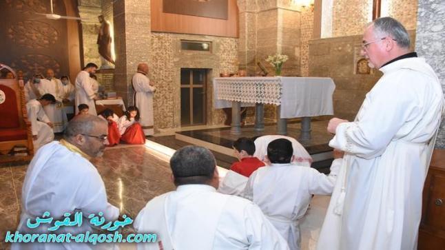 كنائس القوش تحتفل بقداس اليوم الثالث من صوم الباعوثة