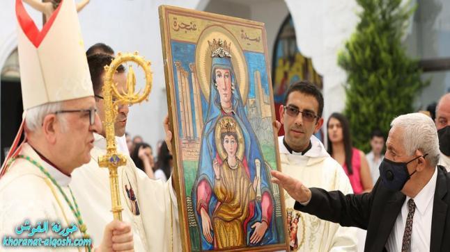 الكنيسة الكاثوليكية في الأردن تُحيي يوم الحج إلى مزار سيدة الجبل في بلدة عنجرة