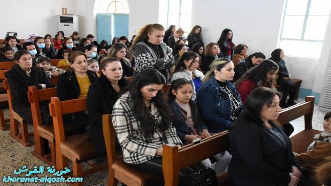 بدء مراسيم درب الصليب للجمعة الاولى في كنائس القوش