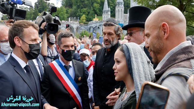 ايمانويل ماكرون، أول رئيس فرنسي يزور مزار السيدة العذراء في لورد