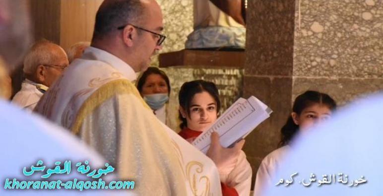 بالصوت، مدراش البركات قبل القداس في اليوم الثالث لصوم الباعوثة في كنيسة مار كوركيس – القوش