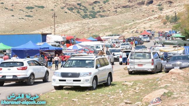 بالصور … مسيحيو العراق يحتفلون بتذكار شير الربان هرمزد في بلدة القوش