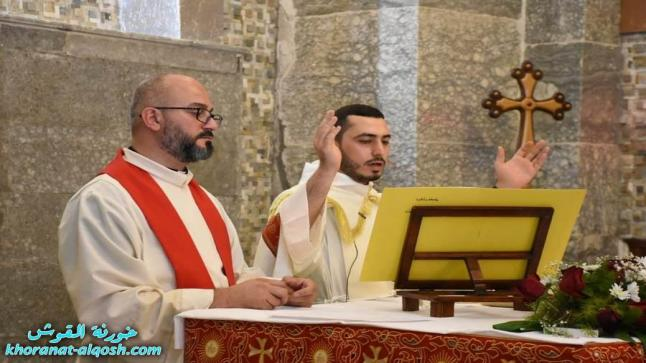 القداس الاول للأب رودي الصفار بعد رسامته الكهنوتية لكنيسة القوش