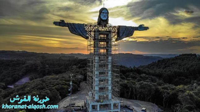 بالصور … قرية برازيلية تبني ثالث أكبر تمثال للمسيح في العالم