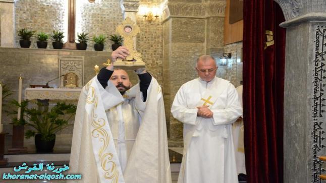 كنيسة القوش تحتفل بالقداس الالهي وعيد مار كوركيس الشهيد