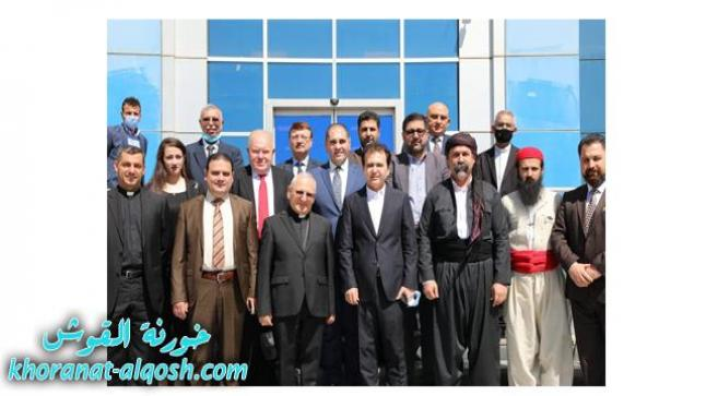 الكاردينال ساكو يزور وزارة الأوقاف في إقليم كوردستان