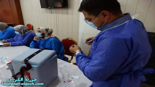 العيادة الخيرية في أبرشية كركوك الكلدانية تنظم حملة تلقيح ضد فايروس كورونا