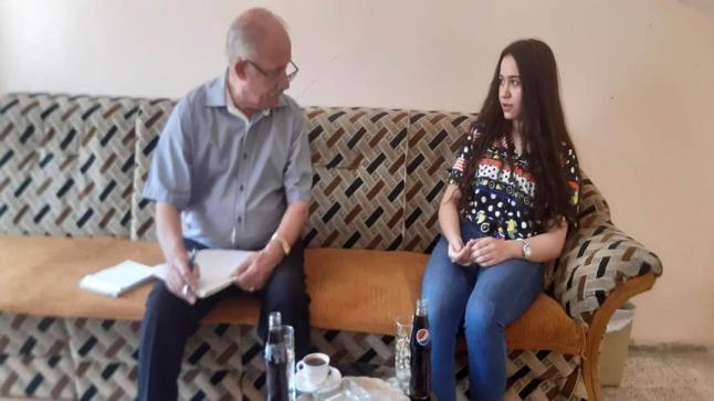 لقاء جديد مع احدى الطالبات المتفوقات في بلدة القوش