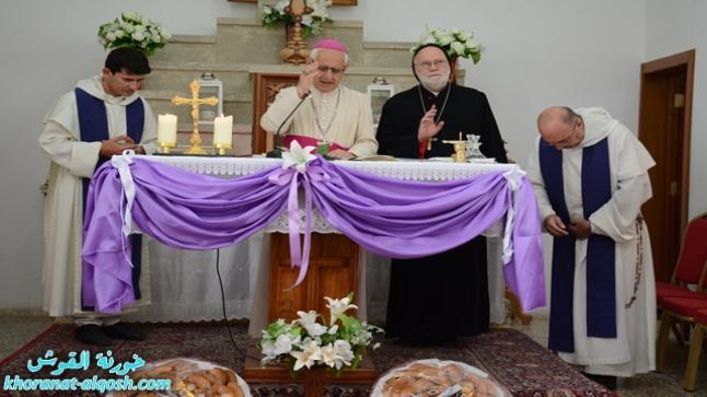 الاخوة الدومنيكية في القوش تقيم قداس على نية المرحوم الاب يوسف عتيشا الدومنيكي