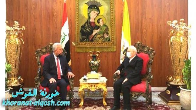 الكاردينال ساكو يستقبل الشيخ إسماعيل الحديدي مستشار رئيس الجمهورية