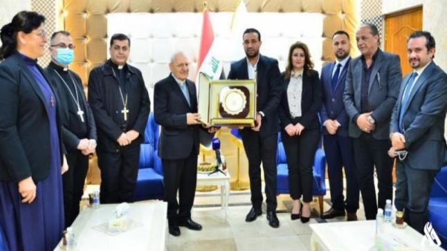 تعاون إعلامي بين شبكة الإعلام العراقي والكنيسة الكلدانية لنشر نتائج لجنة أملاك المسيحيين المغتصبة