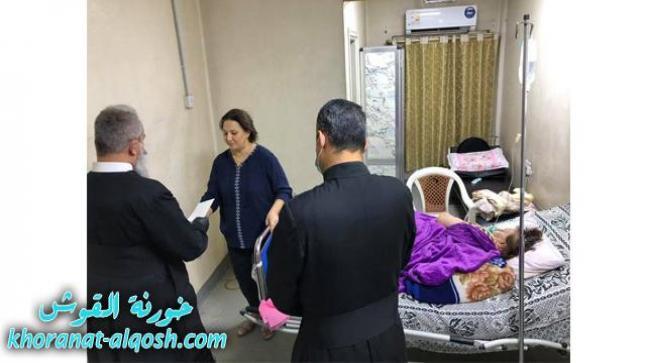 البطريركية تساعد العائلات المتضررة من حريق مستشفى ابن الخطيب