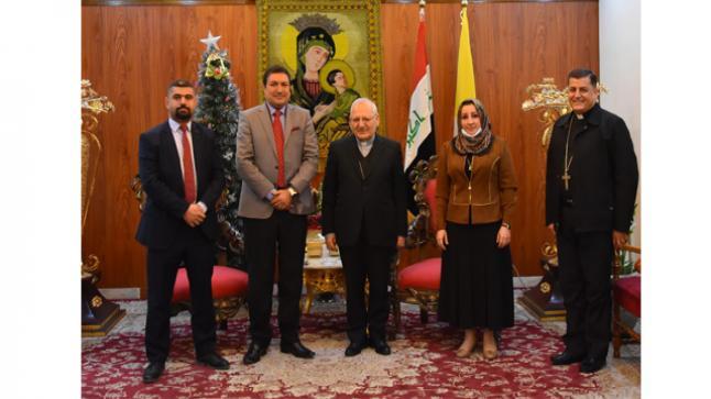 الكاردينال ساكو يستقبل مسؤول مفوضية حقوق الانسان / ملف الأقليات في العراق