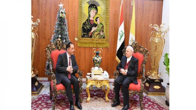 الكاردينال ساكو يستقبل رئيس جامعة الموصل