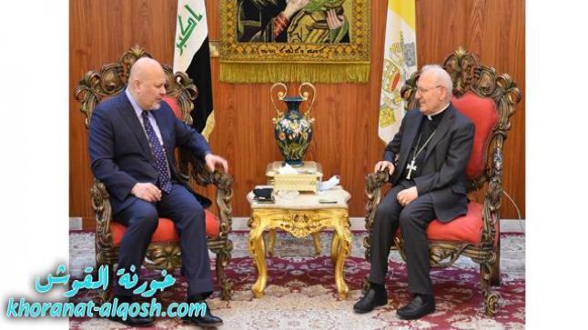 الظلم والاضطهاد لأشخاص ومكونات عراقية محور حديث البطريرك ساكو ومسؤول أممي