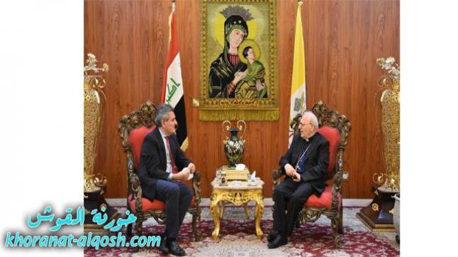 الكاردينال ساكو يستقبل السفير الايطالي لدى الجمهورية العراقية