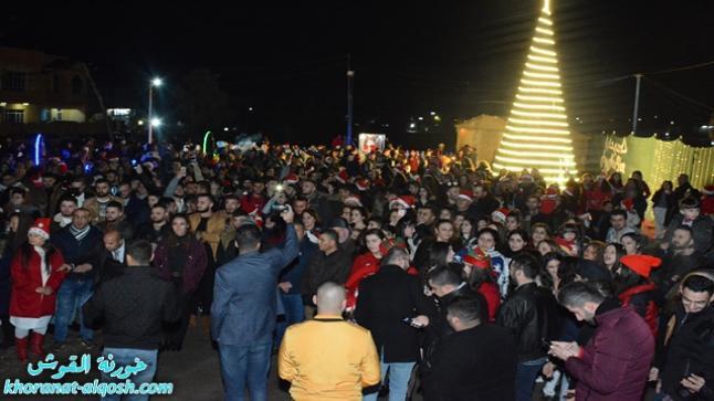 في بلدة القوش، صلاة بمناسبة اختتام العام 2018 و الاحتفالات بأستقبال العام الجديد 2019