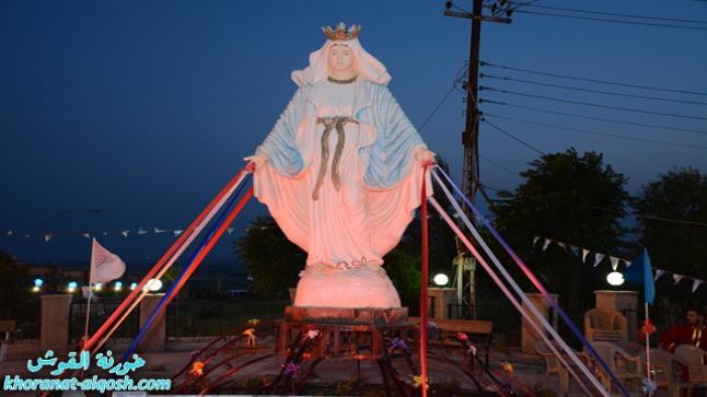 بمناسبة تذكار حافظة الزروع في القوش، سهرة صلاة مريمية مسائية