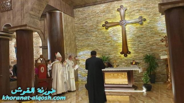 الرسامة الخوراسقفية للأب فارس ياقو مروكي في كنيسة مار كوركيس – تللسقف
