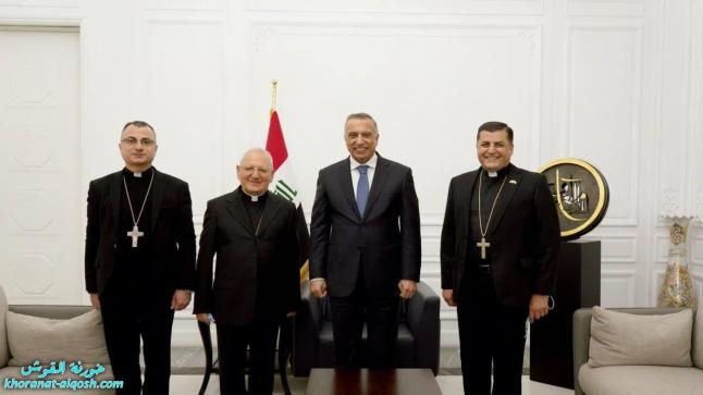 رئيس مجلس الوزراء السيد مصطفى الكاظمي يستقبل الكاردينال لويس ساكو