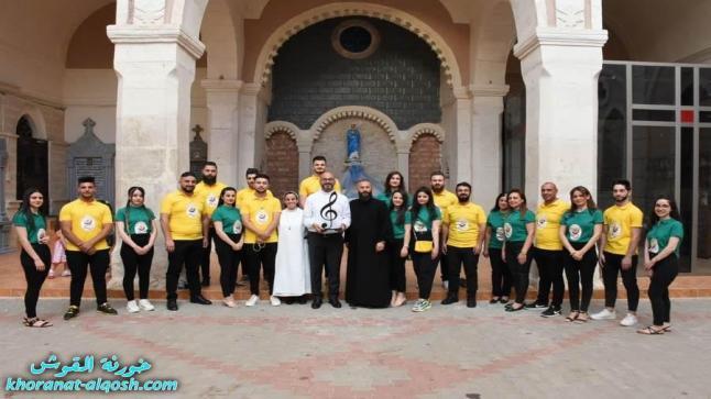 كنيسة القوش تحتفل بعيد العنصرة و جوق الروح القدس