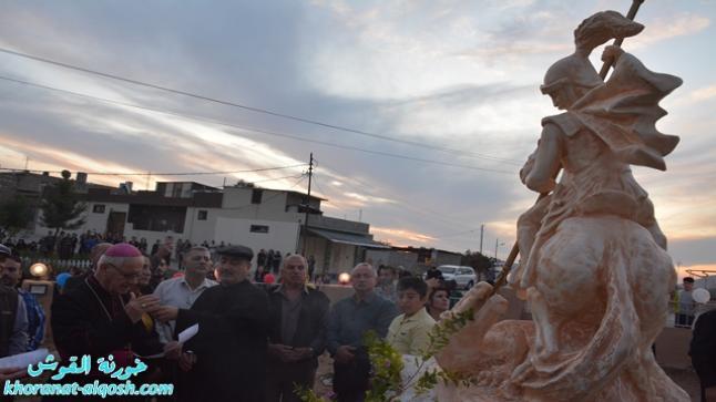 بالصور … في أحد احياء بلدة القوش، افتتاح مزار القديس ماركوركيس