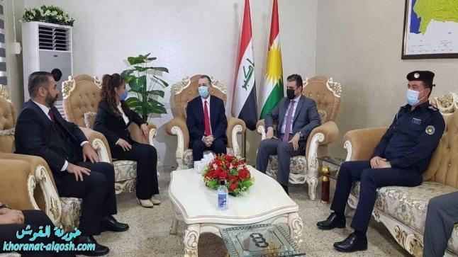 وزير الإقليم لشؤون المكونات في حكومة إقليم كوردستان يزور القوش