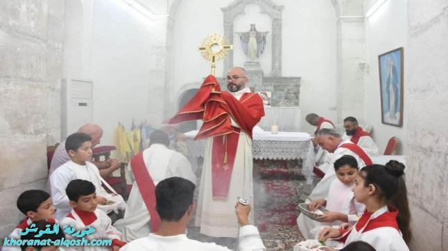 """كنائس القوش تحتفل بعيد الجسد """" عيد القربان المقدس """""""