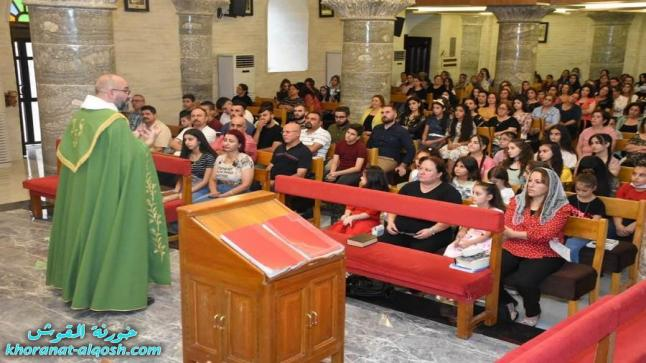 كنيسة القوش تحتفل بقداس الهي بمناسبة عيد التجلي