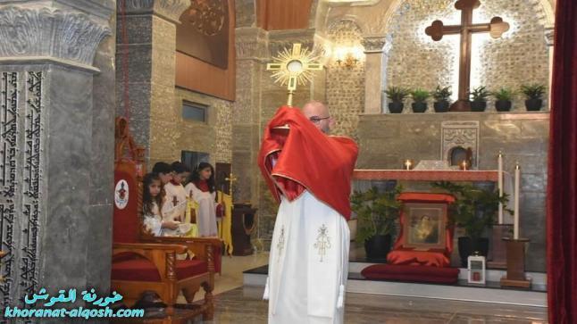 عيد قلب يسوع المقدس في كنيسة القوش