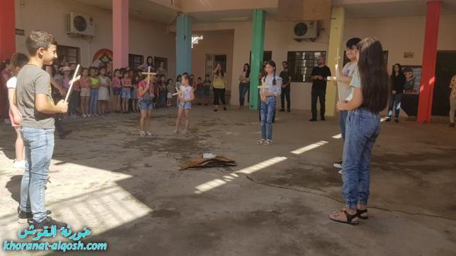 بمناسبة عيد الصليب المقدس، احتفالية لتلاميذ التعليم المسيحي في القوش