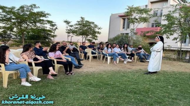 """محاضرة بعنوان """"الجسد والروح، وحدة ام ازدواجية"""" لأعضاء لقاء الشباب الجامعي- القوش"""