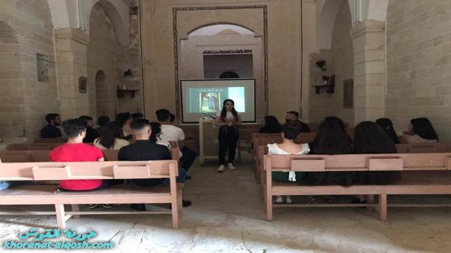 لقاء الشباب الجامعي في القوش يبدأ بعرض سلسلة تتضمن حياة القديسين ومسيرتهم