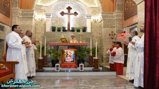 ابرشية القوش الكلدانية تحيي يوم السلام الشرق الاوسط والعائلة المقدسة